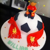 Liverpool Football Club Giant Football Cake