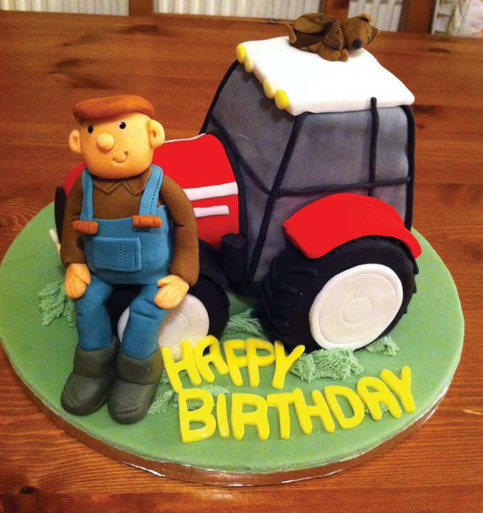 Tractor And Farmer Cake