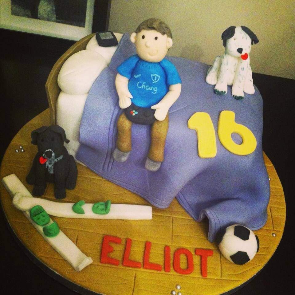 Young Boy Bed Cake