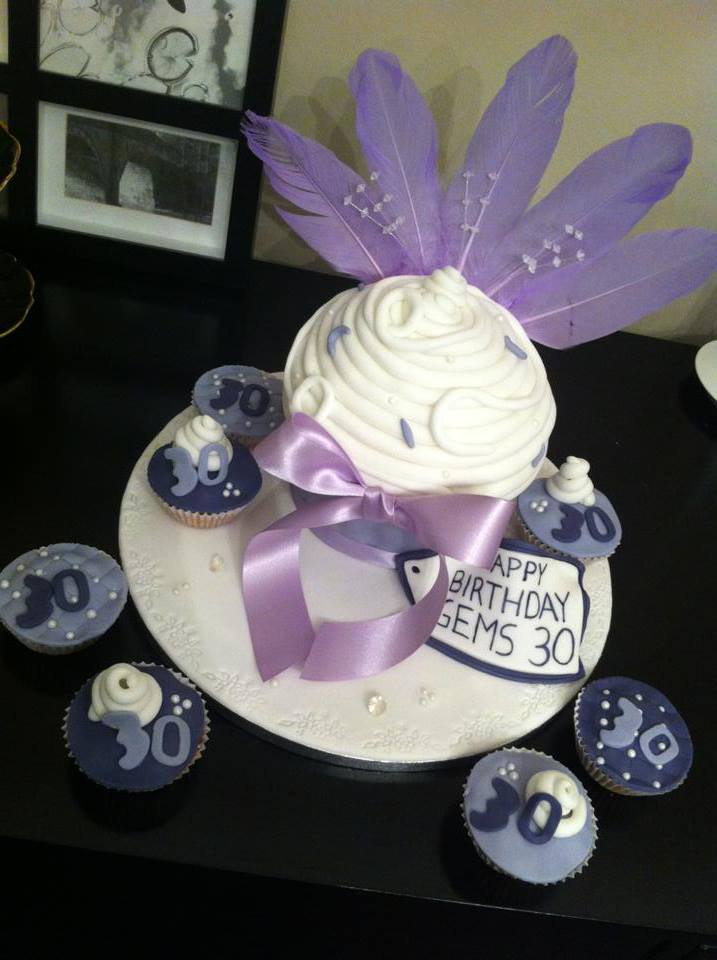 Purple Jazzy Feather Cake
