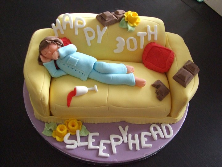 Sleepy Head Couch Cake