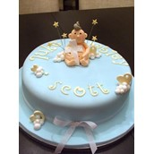 Baby And Cross Cake 1