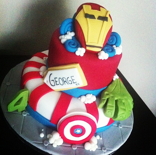 Avengers Cake Licky Lips Cakes Liverpool