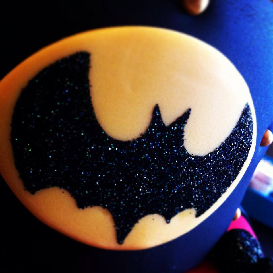 Batman cake detail. Licky Lips Cakes liverpool