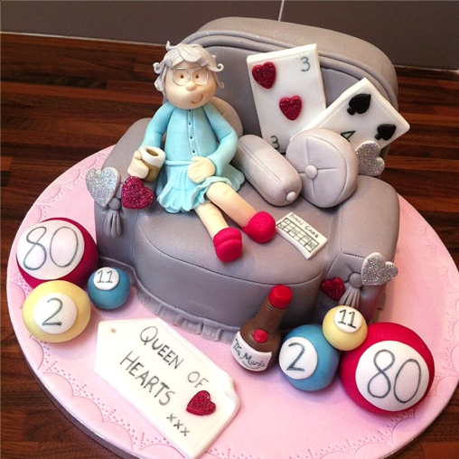 Bingo Queen cake. Licky Lips Cakes Liverpool