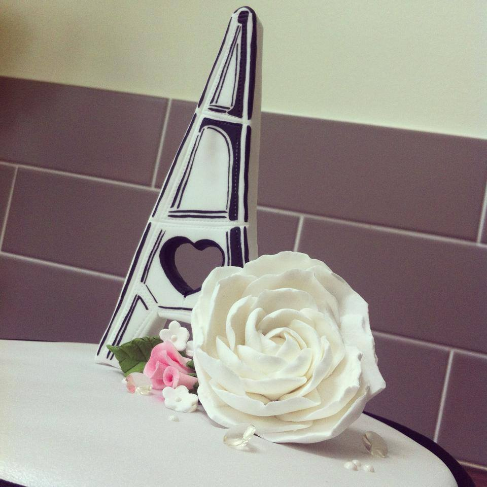 Paris Engagement Cake Eiffel Tower 2 Licky Lips Cakes Liverpool