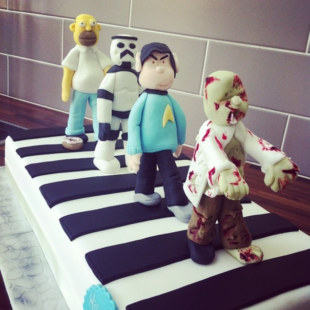 Abbey Rd Zebra Crossing Cake 3 Licky Lips Cakes Liverpool