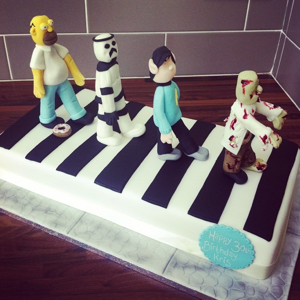 Abbey Rd Zebra Crossing Cake Licky Lips Cakes Liverpool