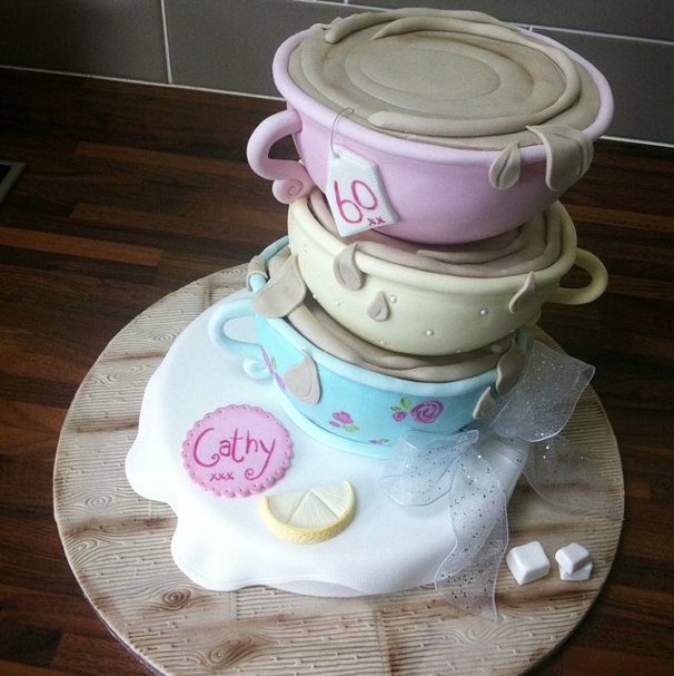 Teacup Vintage Cake Licky Lips Cakes Liverpool