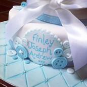 Christening Buttons And Booties Cake Licky Lips Cakes Liverpool 2