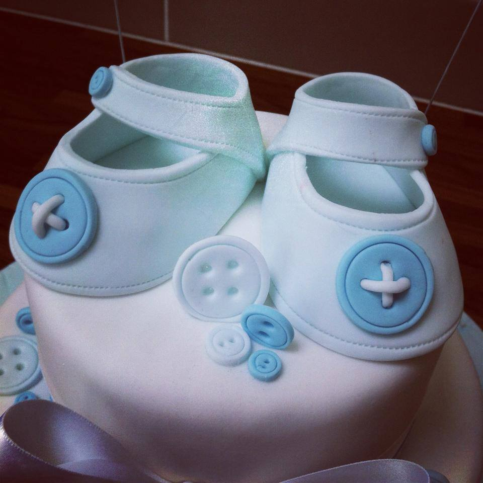 Christening Buttons And Booties Cake Licky Lips Cakes Liverpool