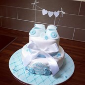 Christening Buttons And Booties Cake Licky Lips Cakes Liverpool 3