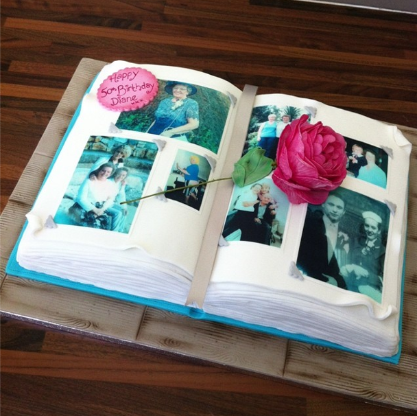 Memory Photo Album Cake Licky Lips Cakes Liverpool