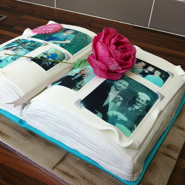 Memory Photo Album Cake 2 Licky Lips Cakes Liverpool