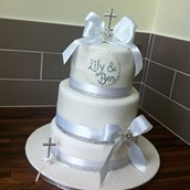 3 Tier Christening Cake Licky Lips Cakes Liverpool