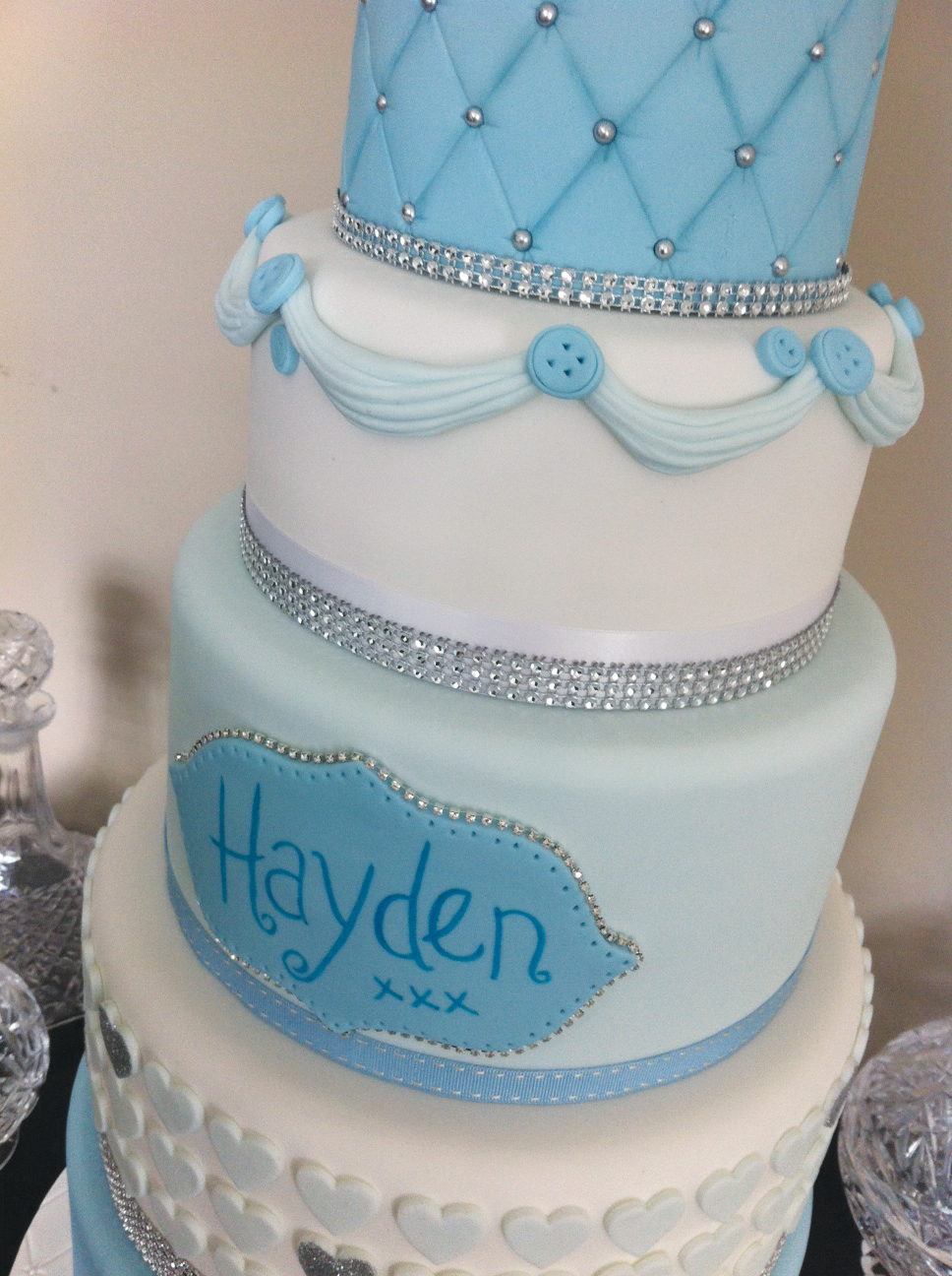 Christening / wedding style - Licky lips Cakes Liverpool 4.JPG