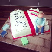 Well Done congratulations you've passed cake - licky lips cakes liverpool