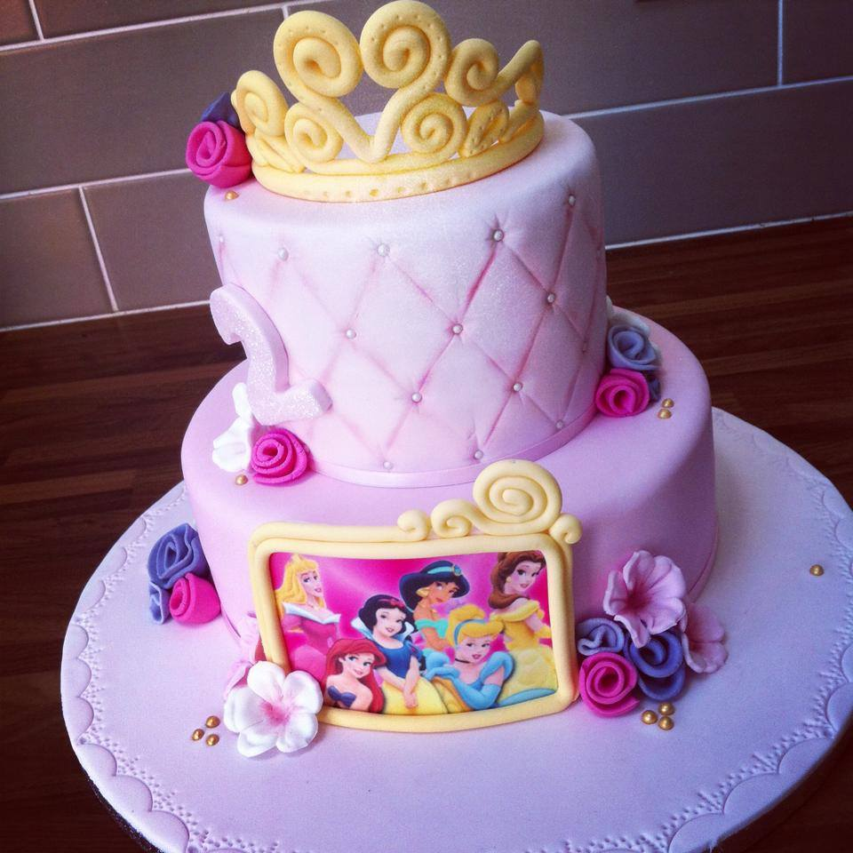 Princess disney cake  - licky lips cakes liverpool