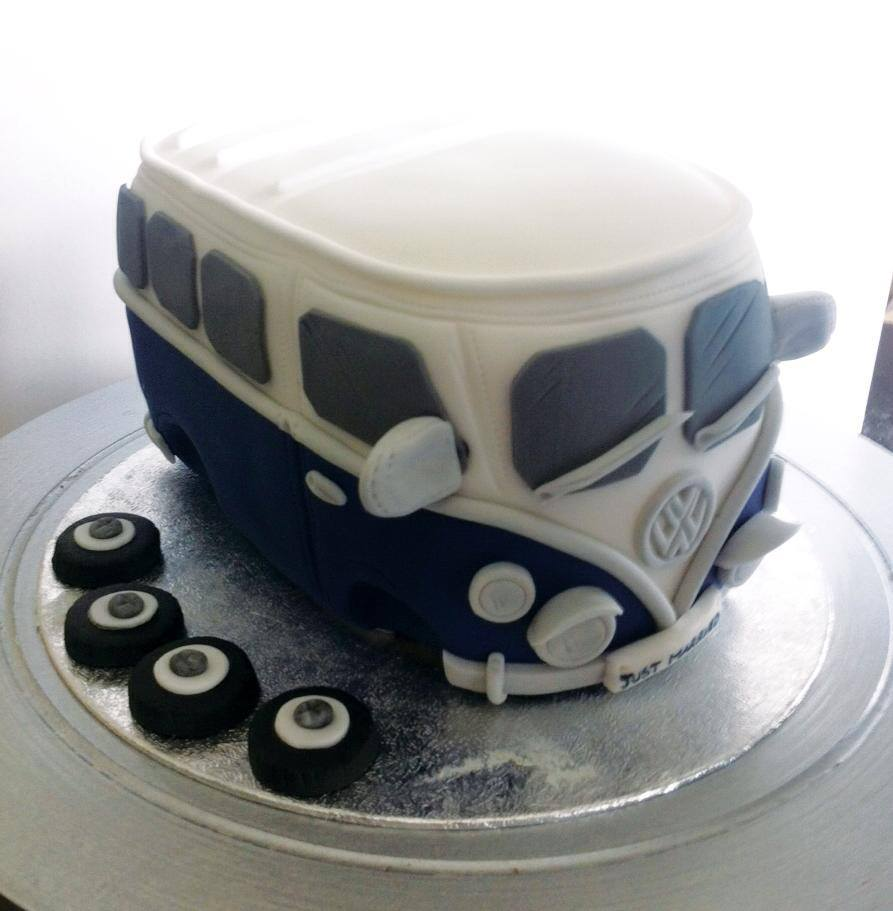 VW Volkswagon Vintage wedding cake topper  - licky lips cakes liverpool