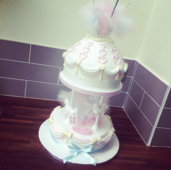 Pastel Carousel Christening Cake Licky Lips Cakes Liverpool