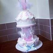Pastel Carousel Christening Cake 4 Licky Lips Cakes Liverpool