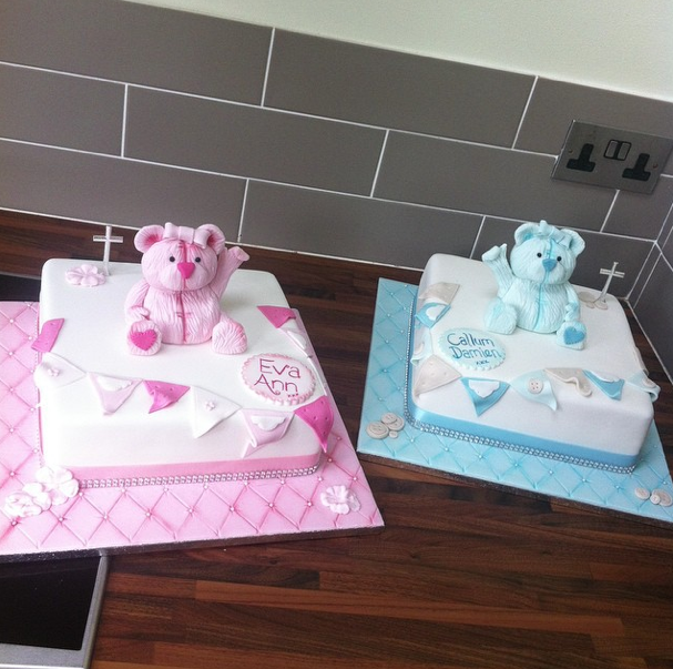 Christening Cake Twin Style Cake Licky Lips Cakes Liverpool