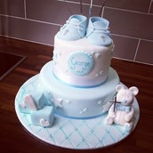 Christening Cake Boy Licky Lips Cakes Liverpool