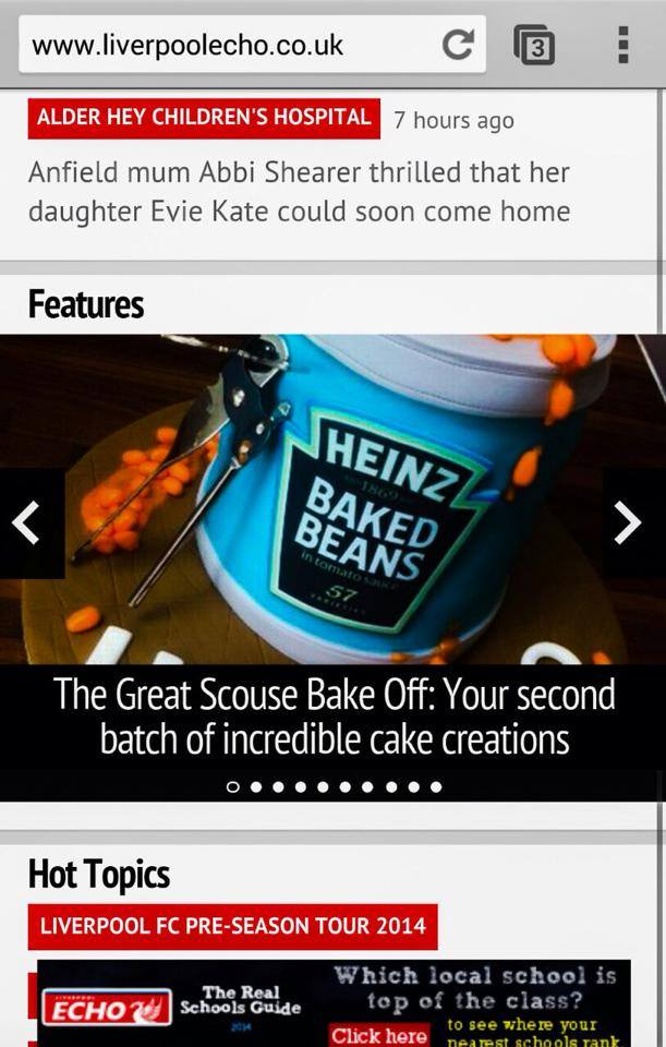Liverpool Echo Great British Bake Off Article 2
