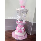 Carousel Christening Cake With Lights 2 Licky Lips Cakes Liverpool