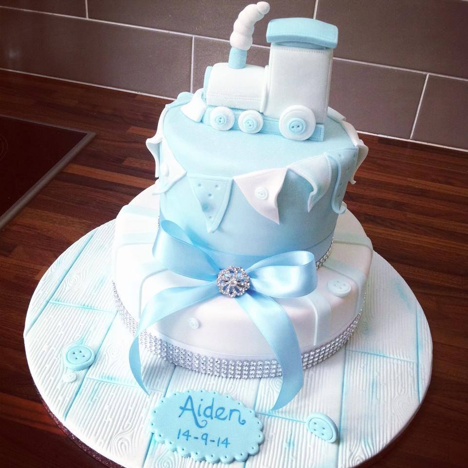 Christening Cake Train Style Licky Lips Cakes Liverpool