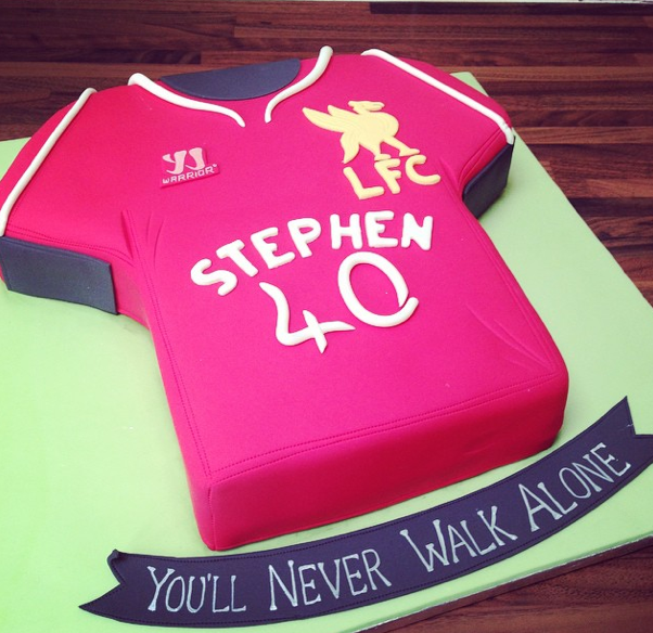 Liverpool FC Shirt Cake Licky Lips Cakes Liverpool