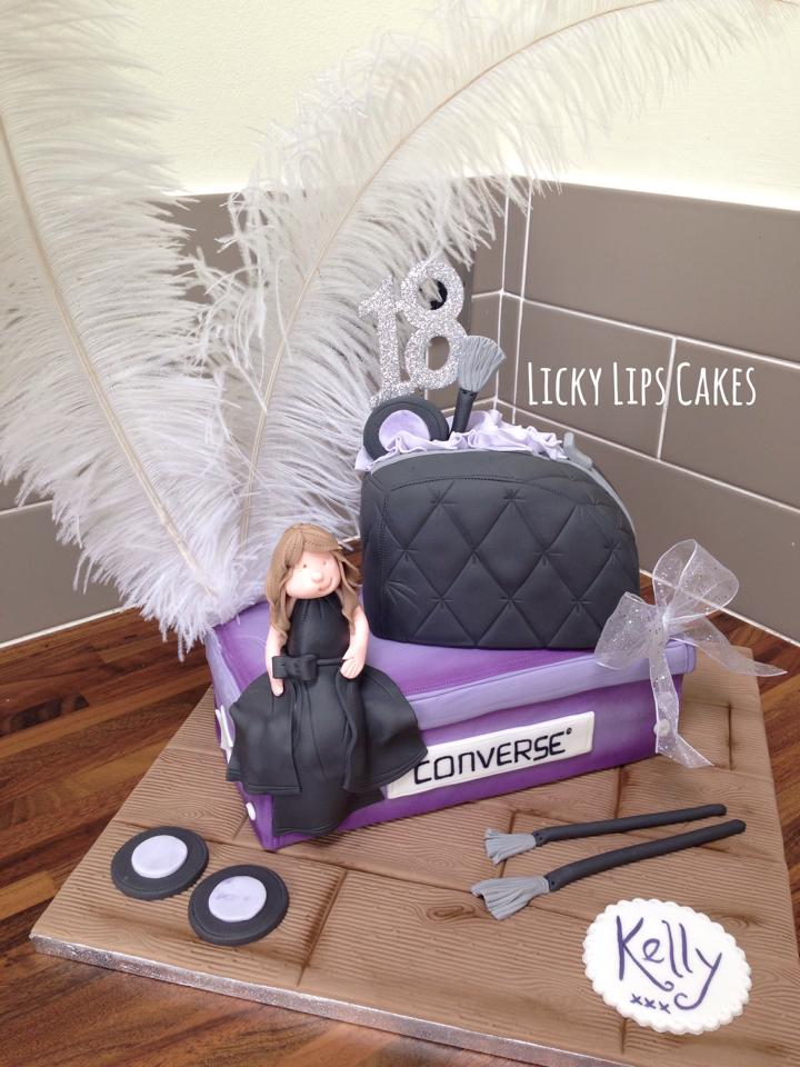Converse And Make Up Cake Licky Lips Cakes
