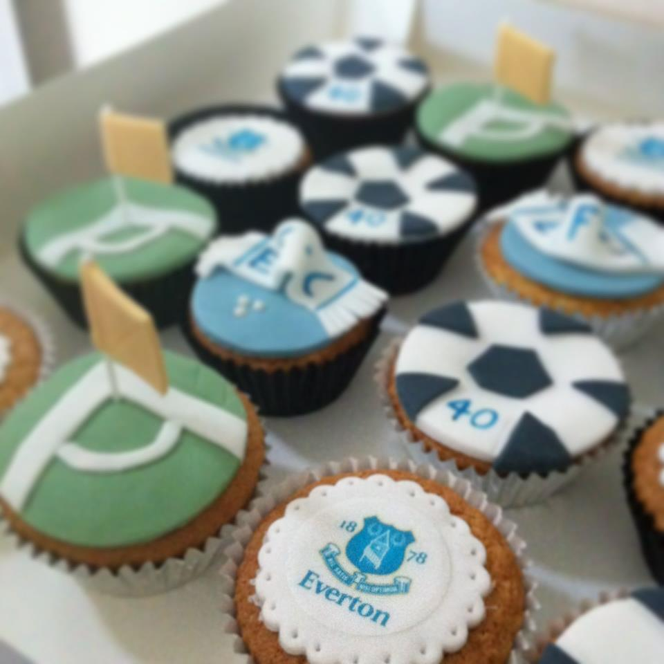 Everton Themed Cup Cakes