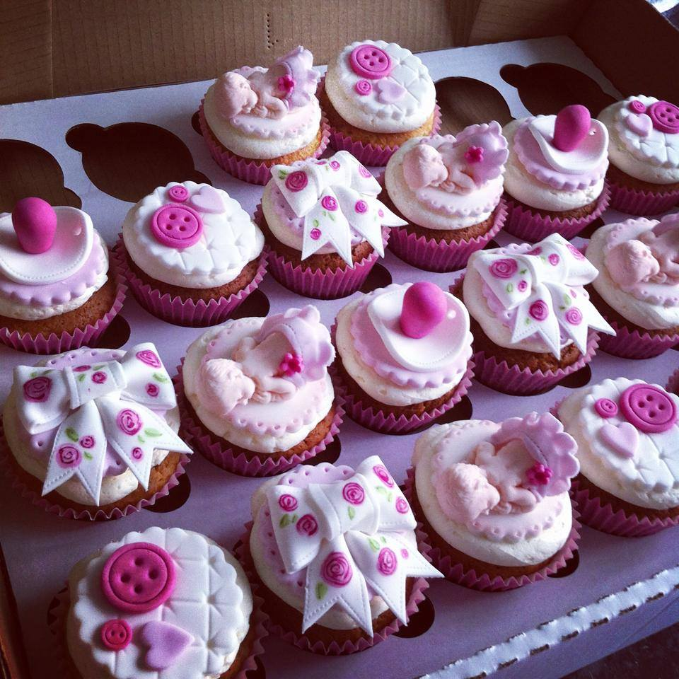 Baby shower cakes baby shower cupcakes liverpool - Girl baby shower cupcake ideas ...